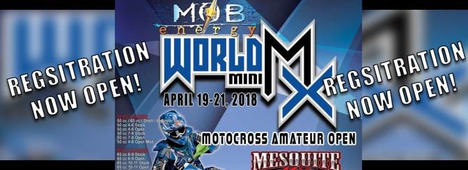 REGISTRATION FOR WORLD MINI MX IS NOW AVAILABLE